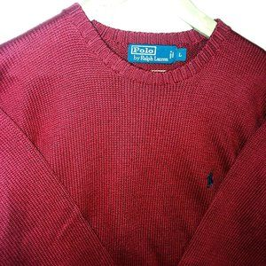 Polo by Ralph Lauren Pullover Sweater Red Sz L